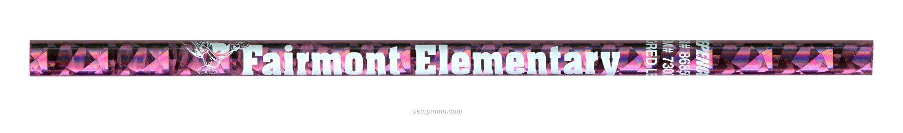 Gem Foil Pencil W/Colored Lead - Pink