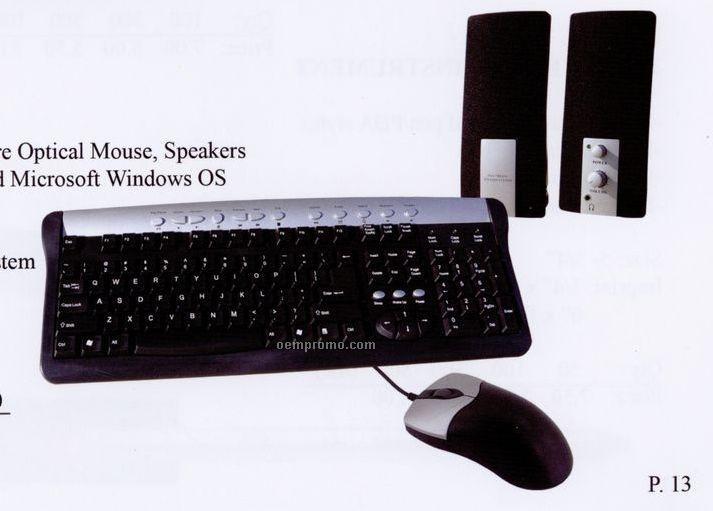 Keyboard/Speaker/Mouse 3-in-1 Combo Set