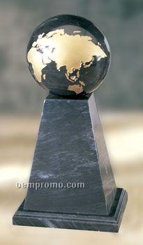 Medium Black Marble Deluxe Tapered Column Award