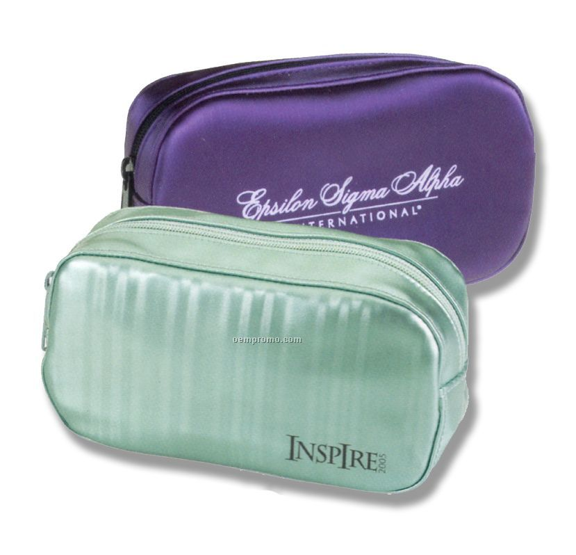 Oval Innovator Cosmetic Case (Pvc Silk) (China)