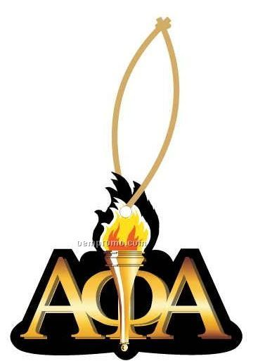 Alpha Phi Alpha Fraternity Mascot Ornament W/ Mirror Back (4 Square Inch)