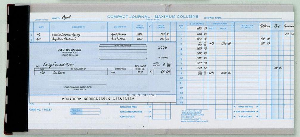 Compact General Disbursement Check (2 Part)