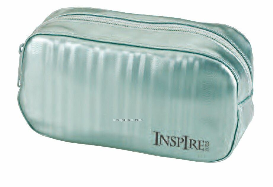 Oval Innovator Cosmetic Case (Pvc Moire Silk) (China)