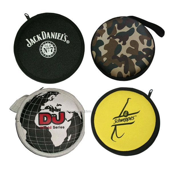 Round Zipper CD Case