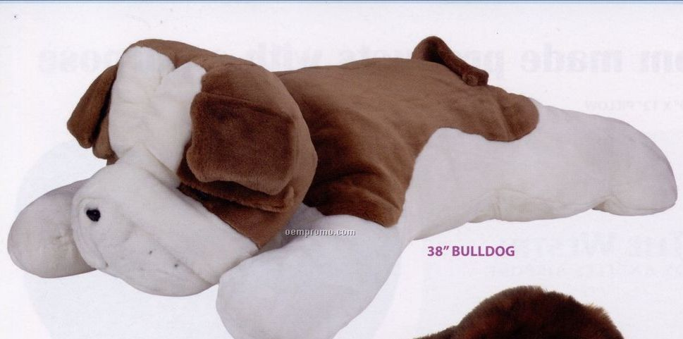 Stock Bulldog Plush Stuffed Animal