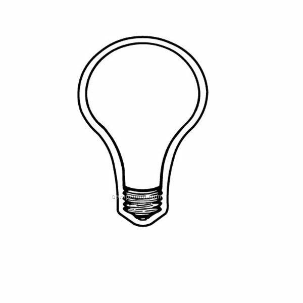 Stock Shape Lightbulb Recycled Magnet