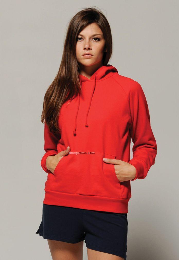 Bella Ladies' Raglan Pullover Hooded Sweatshirt - Neutral