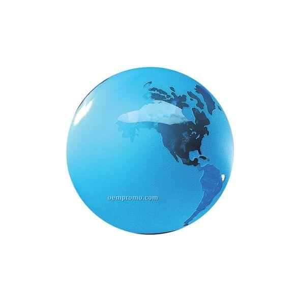 Molten World Globe W/ Flat Bottom #3