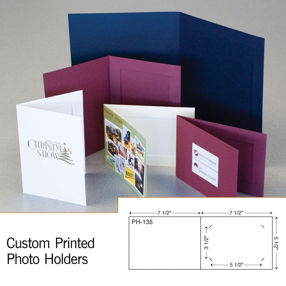 """Paperboard 4""""X6"""" Photo Holder W/ Die Cut Slits (1 Color/1 Side)"""