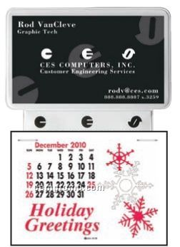 Business Card With Ad Message Press-n-stick Calendar (Thru 8/1/2011)