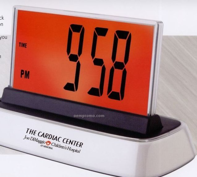 Jumbo Multi Color Alarm Clock With Temperature