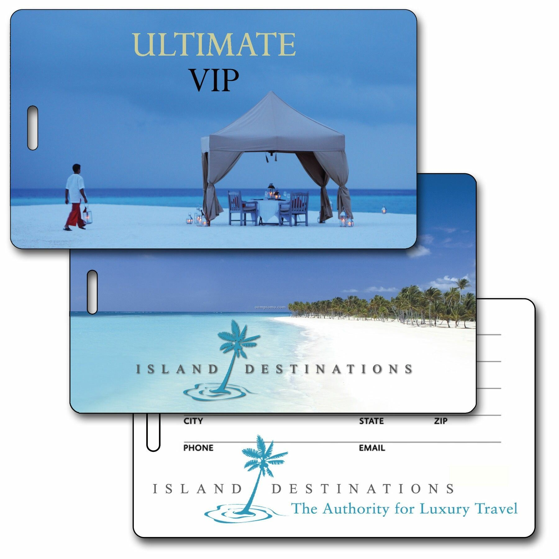 Luggage Tag 3d Lenticular Ultimate Beach Tent Stock Image (Imprint Product)