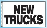 Stock Cluster 3 Flag Set W/ Staff & Hardware (Used Trucks)