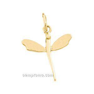 16-3/4x14 Ladies' 14ky Dragonfly Pendant