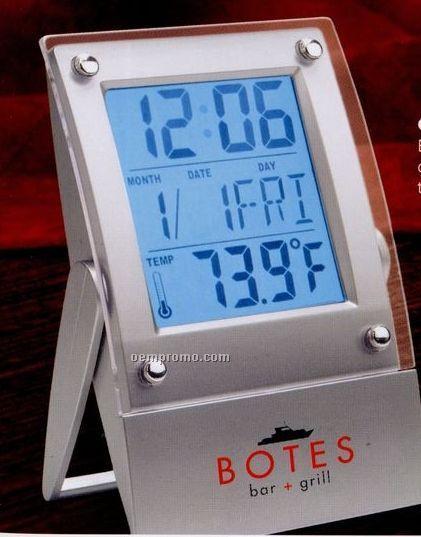 El Backlight Alarm Clock W/ Calendar & Temperature