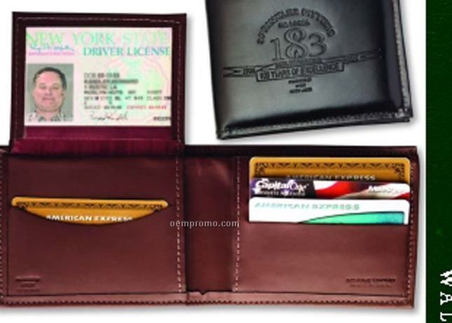 Men's Leather Billfold - Top Grain Cowhide Leather