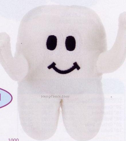 """Plush Tooth W/ Smile - 8"""" Stock Toy"""