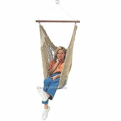 Rope Hammock Chair With Pillow - Made In Usa