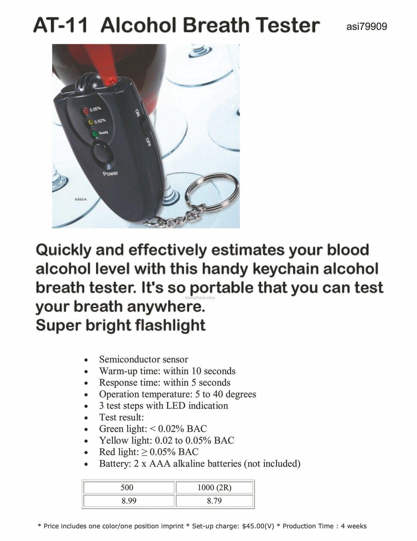Alcohol Testing Breathalyzer