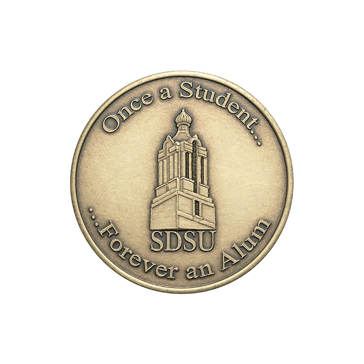 "Antique Bronze Coin - Medallion (1"")"