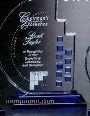"Indigo Gallery Crystal Azure Moon Award (10"")"