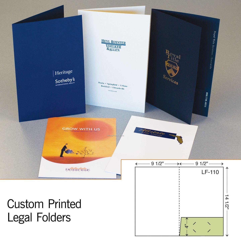 Legal Folder W/ Right Pocket (1 Color/1 Side)