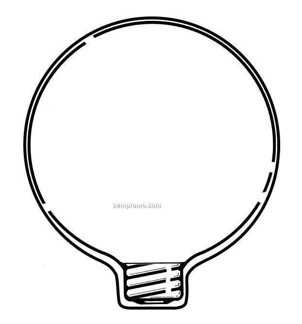 Light Bulb Stock Shape Fan