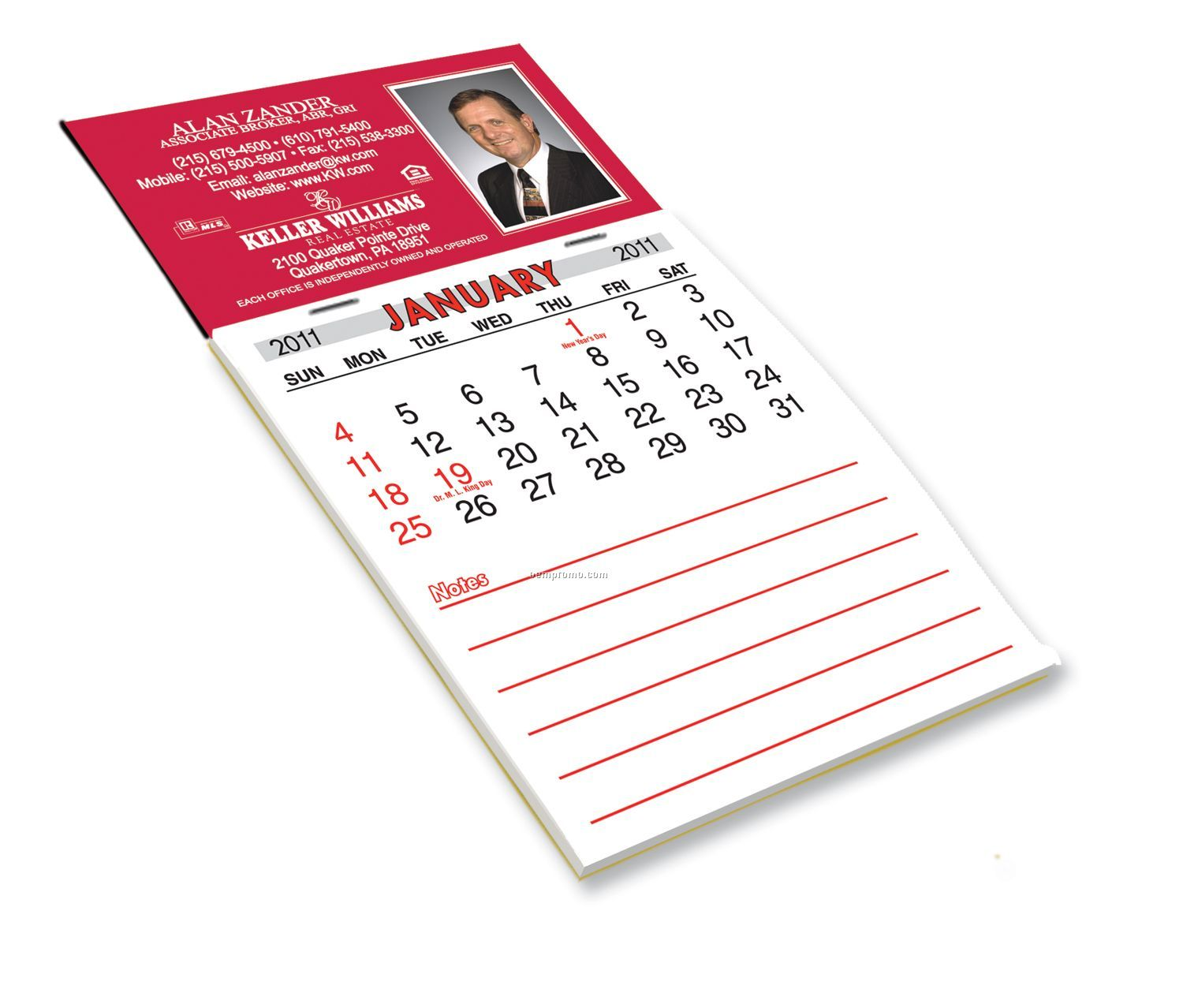 Magnetic One Year Calendar Pad