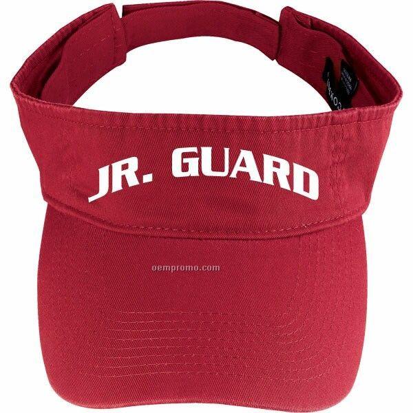 Red Jr. Guard Cotton Visor
