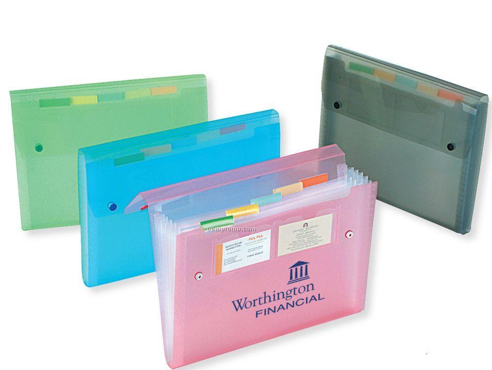 Translucent 6-pocket Expanding File