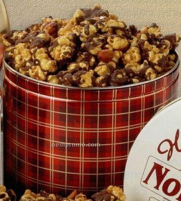 18 Oz. Chocolate Covered Caramel Corn Designer Gift Tin