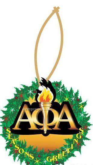 Alpha Phi Alpha Fraternity Mascot Wreath Ornament / Mirror Back(8 Sq. Inch)