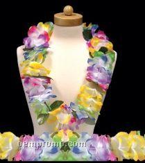 Multi Color Tye-dye Flower Leis