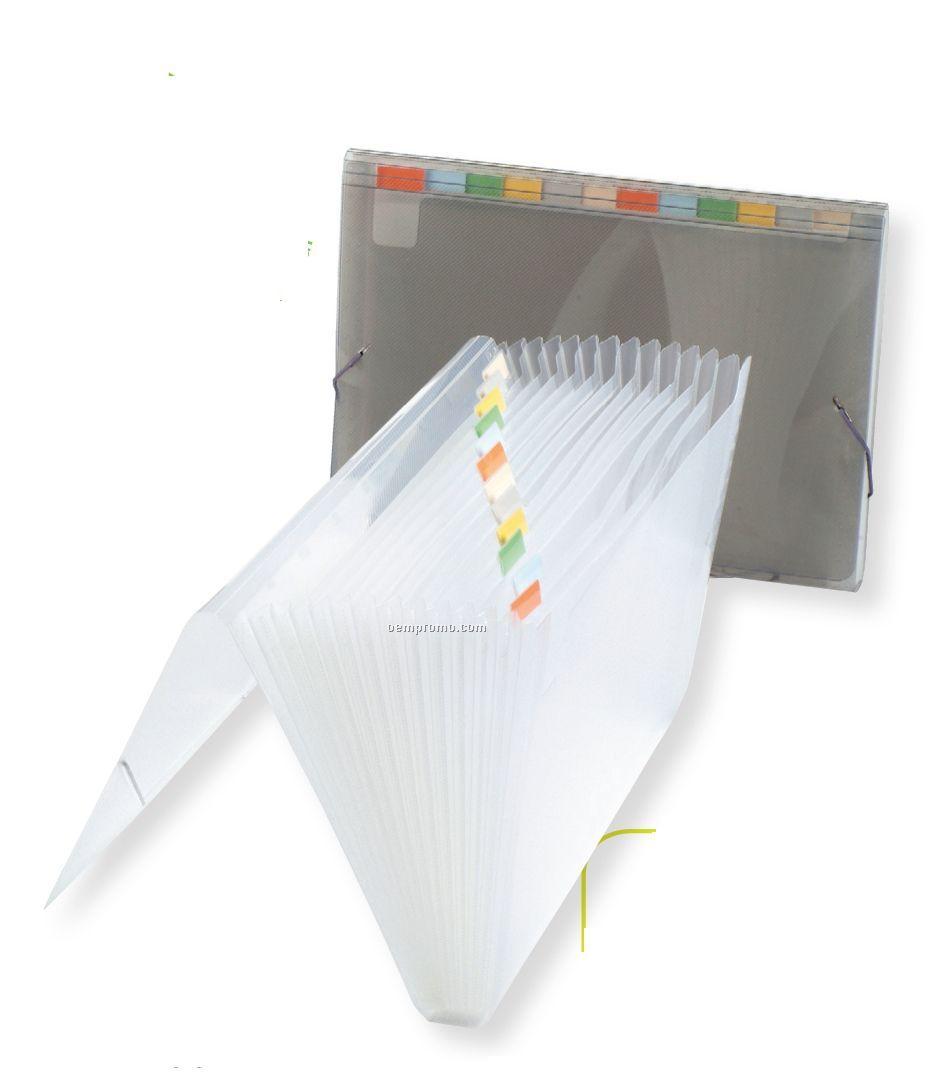 Translucent 13 Pocket Expanding File