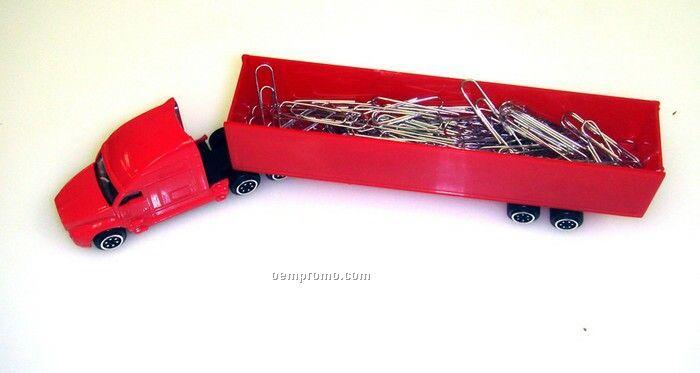 "8"" Die Cast Replica Traditional Transport Hauler (Red Hauler/Red Cab)"