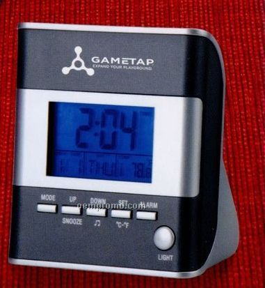 Lcd Backlight Alarm Clock With Day, Date, Temperature