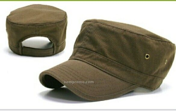 Washed Military Hat (One Size Fits Most)