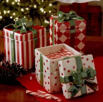 Waterford Cool Yule Collection Gift Boxes Connecting Canisters (Set Of 3)