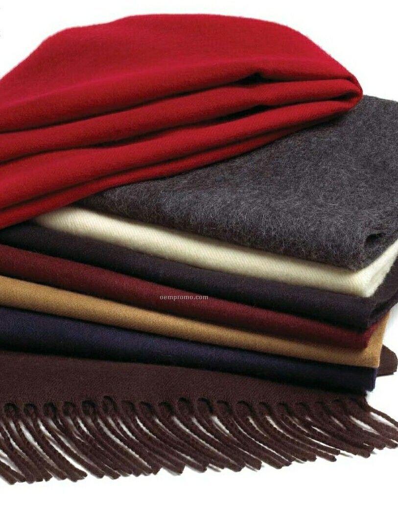 Wolfmark Charcoal Gray Wool Muffler Scarf