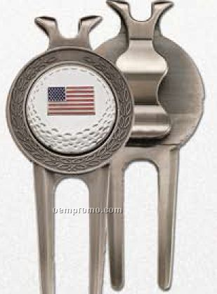 Zinc Alloy Divot Tool With Magnetic Custom Ball Marker