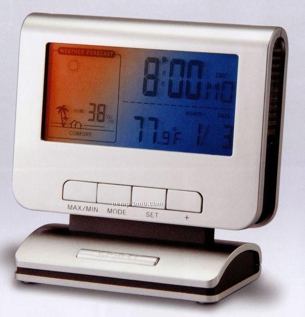 Digital Alarm Clock W/ Calendar, Weather Forecast And Temperature