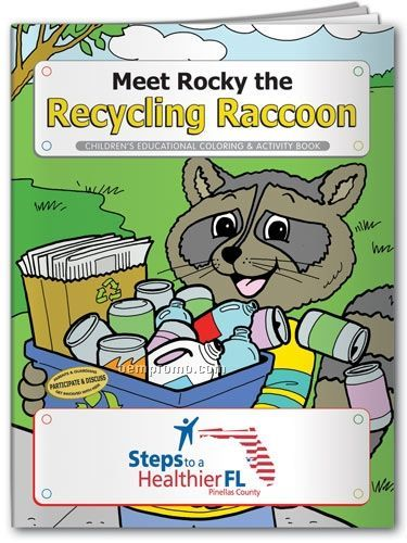 Fun Pack Coloring Book W/ Crayons - Meet Rocky The Recycling Raccoon