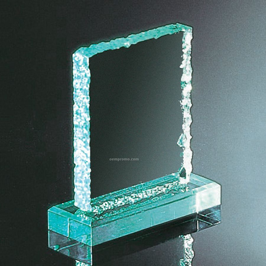 Jade Green Cracked Ice Award