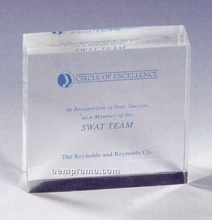 Lucite Square Stock Embedment/ Award
