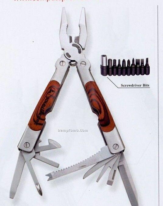 Dakota Phoenix Large Wood Handle Multi-function Tool