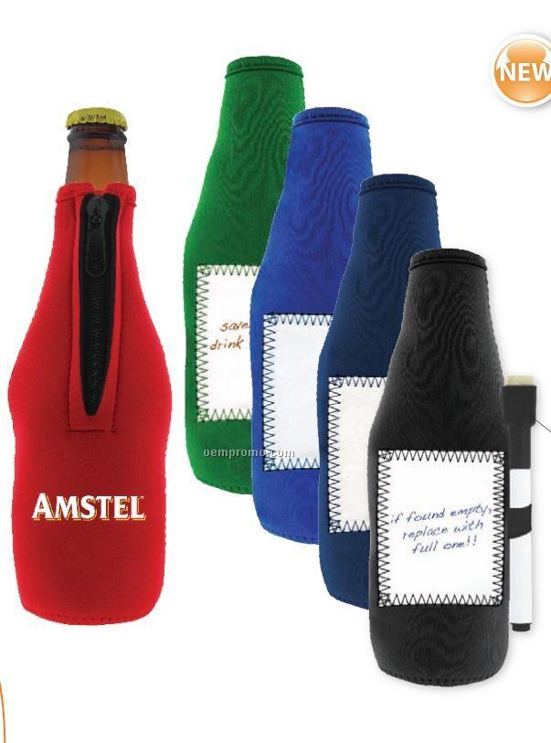 Whiteboard Stubby Bottle Cooler (15 Day Service)