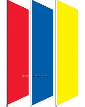 2 1/2'x12' Stock Zephyr Banner Drapes - Burgundy Red