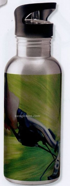 20 Oz. Full Color Stainless Steel Water Bottle W/Straw