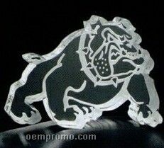 Acrylic Paperweight Up To 20 Square Inches / Bulldog 2
