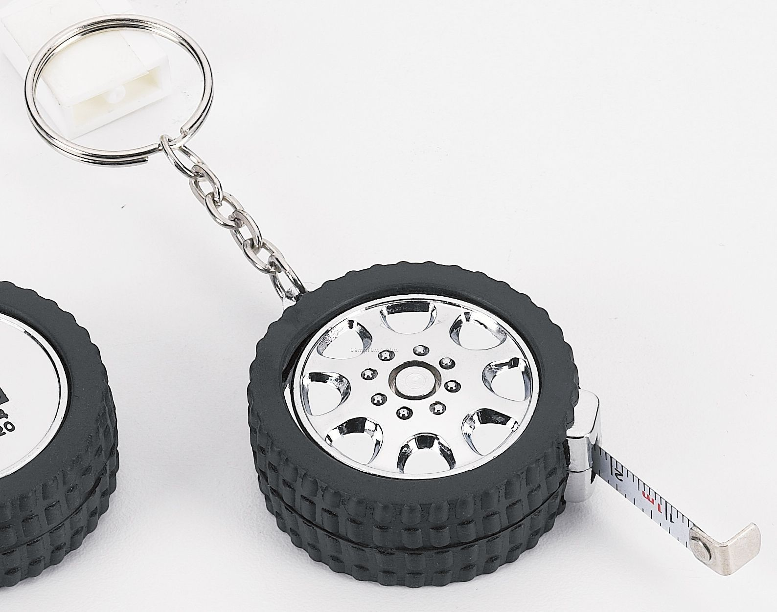Racing Tire Key Holder/ 3' Retractable Tape Measure